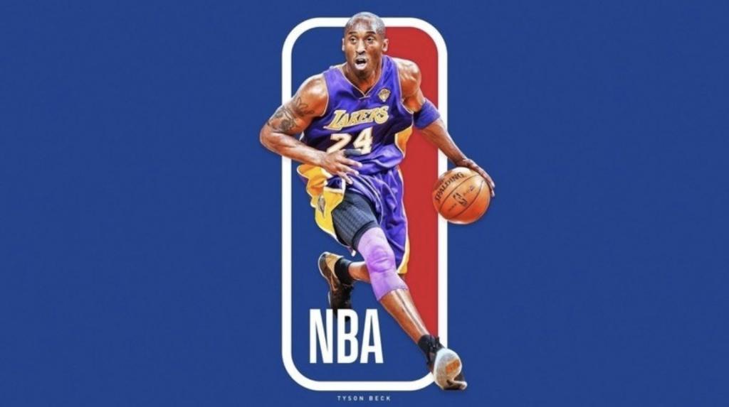 Campanha quer imortalizar craque do Lakers no logotipo da liga. (Foto: Arte da imagem: @tysonbeck)
